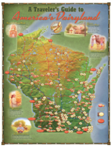 "Free ""A Traveler's Guide To America's Dairyland"" Wisconsin Cheese Map"