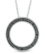 Enter To Win A Black Diamond Accent Circle Pendant in Sterling Silver