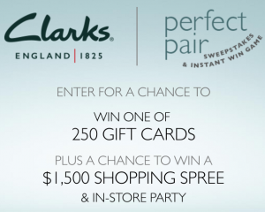 Clarks Perfect Pair Sweepstakes