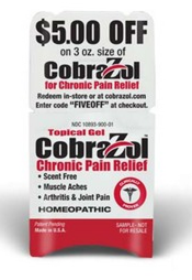 Free Sample And $5 Off Coupon For CobraZol Pain Relief