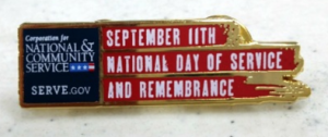 Free 9/11 Day of Service Lapel Pin