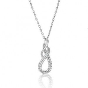 Enter To Win A Diamond Accent Infinity Pendant In Sterling Silver with Chain