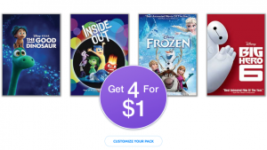 Disney Movie Club - Get 4 Movies For Just $1