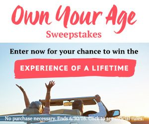 AARP Own Your Age Sweepstakes