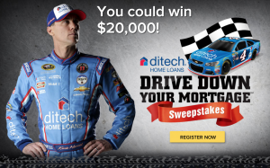 """Ditech """"Drive Down Your Mortgage"""" Sweepstakes"""