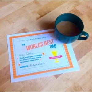 Printable World's Best Dad Award