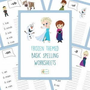 Free Printable Frozen Spelling Worksheets