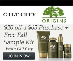 Origins - $20 off $65 Purchase + Free Fall Sample Kit