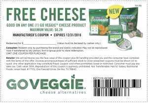 Free GO VEGGIE Cheese Alternative Product Coupon