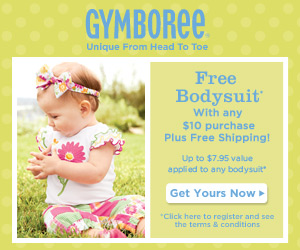 Free Gymboree Bodysuit ($7.95 Value)