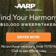 AARP Find Your Harmony $10,000 Sweepstakes