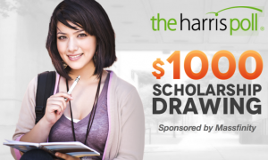 Harris Poll $1,000 Scholarship Sweepstakes