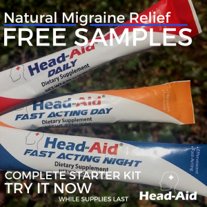Free Sample Of Head Aid Natural Migraine Relief