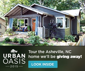 HGTV Urban Oasis 2015 Sweepstakes