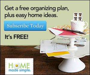 Free 30-Day Organizing Checklist From Home Made Simple