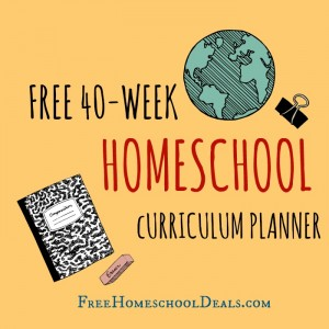 Free 40 Week Downloadable/Printable Homeschool Curriculum Planner