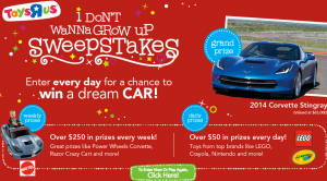 Toys R Us I Don't Wanna Grow Up Sweepstakes