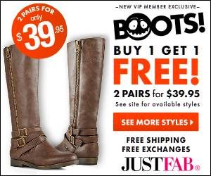 JustFab Buy 1 Get 1 Free Sale! - 2 Pairs Of Shoes For $39.95