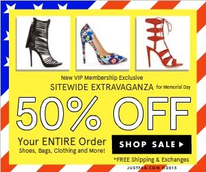 JustFab 50% Off Sale Plus Free Shipping