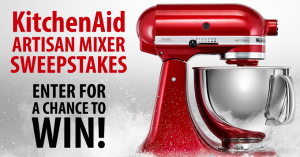 KitchenAid Artisan Mixer Sweepstakes