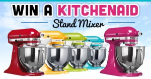 Win a KitchenAid Stand Mixer In The Color Of Your Choice