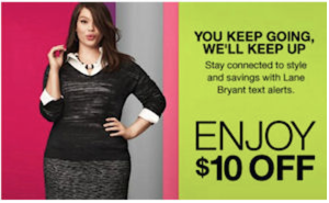 $10 Off Any Lane Bryant Purchase