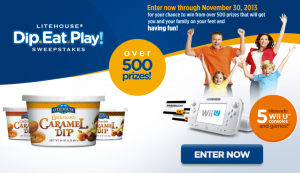 Litehouse Dip.Eat.Play! Sweepstakes