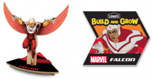 Free Avengers Falcon at Lowe's on 07/09
