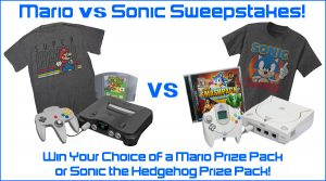 Win a Mario or Sonic Prize Pack