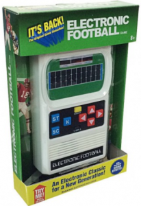 Rediscover The 80's Mattel Handheld Electronic Football Giveaway