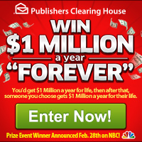 PCH - Win $1,000,000 Per Year, Forever!