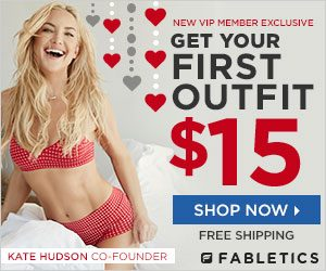 Fabletics Memorial Day Special: 1st Outfit $15 + Free Shipping