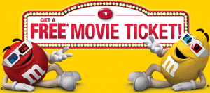 Free Movie Ticket With M&M's Purchase