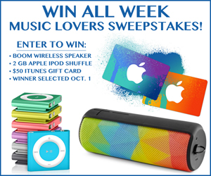 Enter the Music Lovers Sweepstakes Part II