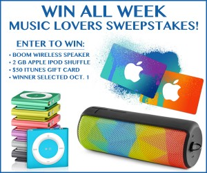 Win All Week Music Lovers Sweepstakes
