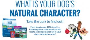 Natural Balance #naturalcharacters Sweepstakes