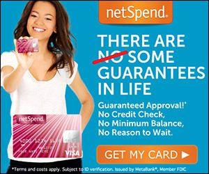 Get a NetSpend Visa Prepaid Card