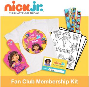 Free Printable Nick Jr. Fan Club Membership Kit