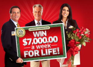 Publishers Clearing House Win $7,000 A Week For Life!