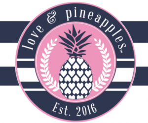 Free Love & Pineapples Apparel Sticker