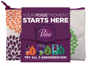 Free Poise Starter Pack with Zippered Pouch