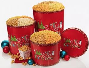 Enter To Win A Popcorn Factory Merry Christmas Popcorn Tin
