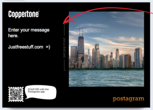 2 Free mailed Postcards From Postagram and Coppertone