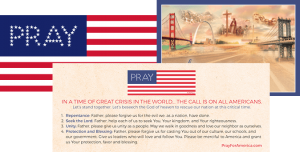 "Free Pray"" Bumper Sticker And ""I'm Praying For America"" Postcard"