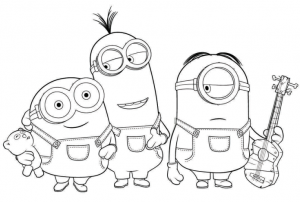 25 printable minions activitycoloring pages