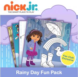 Printable Nick Jr. Rainy Day Fun Pack