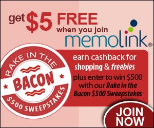 Memolink Rake in the Bacon $500 Sweepstakes
