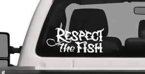 "Free ""Respect The Fish"" Window Decal"