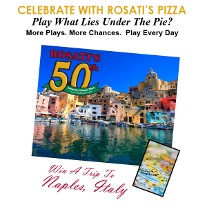 Rosati's Pizza What Lies Under The Pie? Sweepstakes