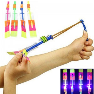 Free Flying Rocket Catapult Rubber Band Arrows